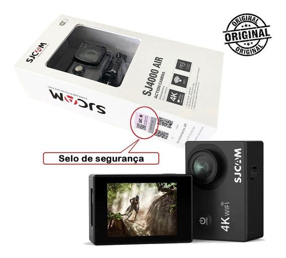 Câmera Sjcam Sj4000 Air 4k Original + Acessórios