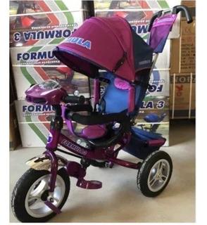 Triciclo De Niños Con Sombrilla Y Canasta Y Cinturon Mtx