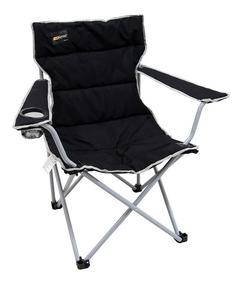 Cadeira Dobravel Boni Preta Camping Pesca Nautika + Bolsa