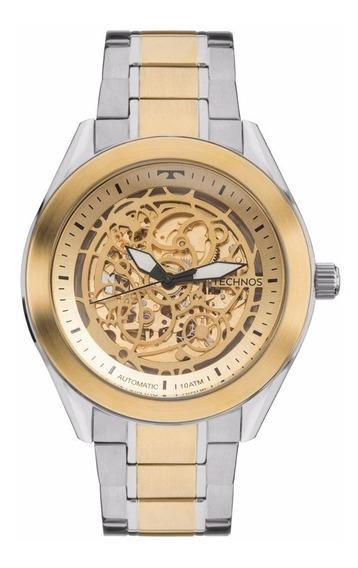Relógio Technos Masculino Automático 8n24aj/4x Esqueleto Mis