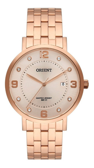 Relógio Orient Feminino Frss1042 R2rx Rose Analogico Oferta