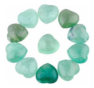 Sunyik Green Fluorite Tallada Puff Heart
