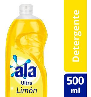 Detergente Lavavajilla Ala Ultra Desengrasante Limon 500 Ml