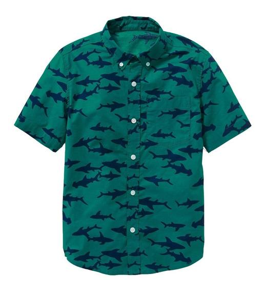 Camisa Niño Casual Manga Corta Estampada 391707 Old Navy