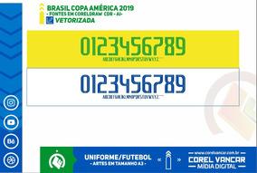 Fonte Copa América Brasil 2019 Vetorizada