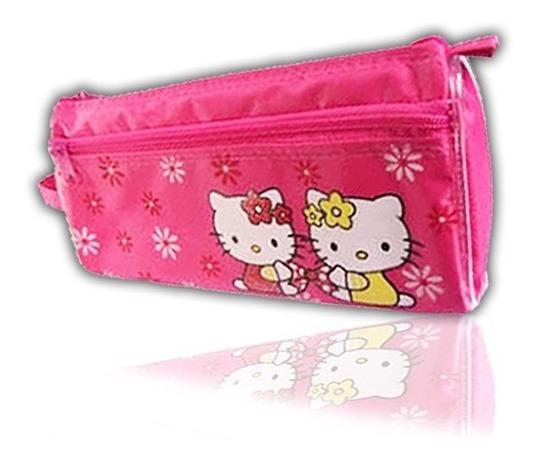Cartuchera Porta Lapices Hello Kitty Estuche Tela Escolar