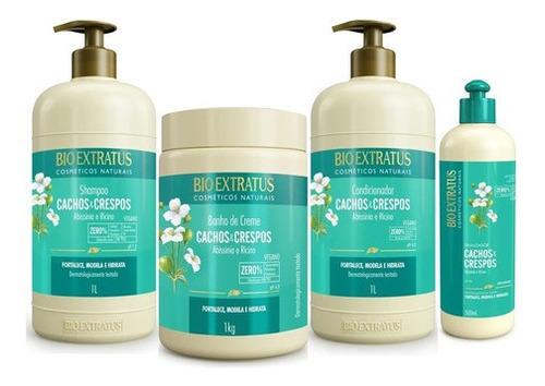 Imagem 1 de 7 de Lançamento Bio Extratus - Kit Cachos E Crespos 4 Produtos