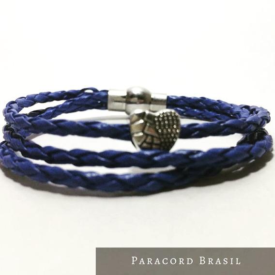Bracelete Berloque Em Couro