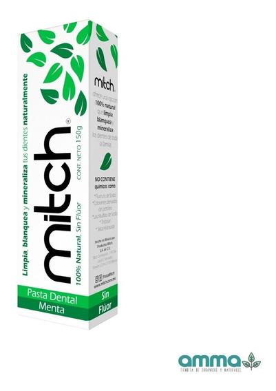 Pasta Dental Mitch Sin Fluor 100% Natural Sabor Menta