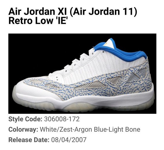 Tenis Air Jordan Retro Xi (11) Lows Ie 10us 28cm