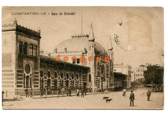 Postal Estacion Trenes Estambul Turquia 1924 A San Nicolas
