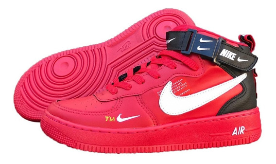 Tenis Bota Nike Air Force + Brinde 1 Kit Com 3 Pares De Meias + Frete Grátis Promoção