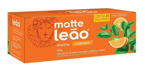 Chá Leão Matte Com Laranja - 25 Saches