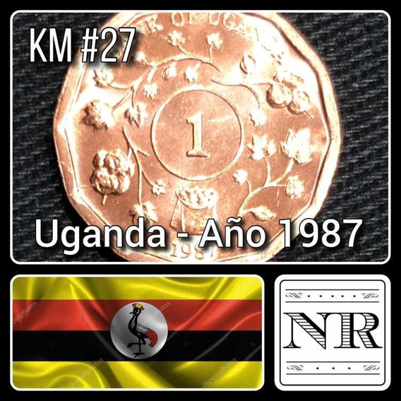 Uganda - 1 Shilling - Año 1987 - Km # 27 - Africa