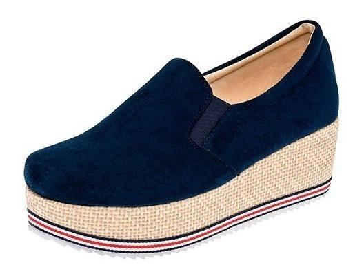 Zapato De Plataforma Azul Marino (casual)