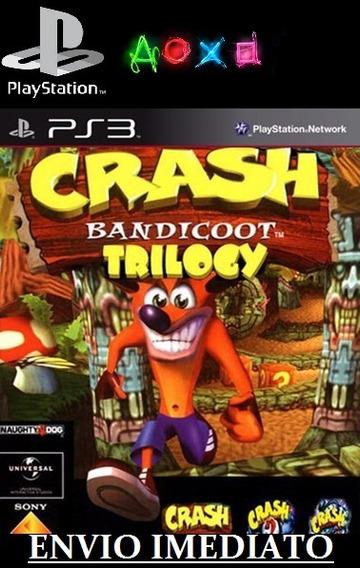 Crash Bandicoot Trilogy Ps3 Midia Digital Enivo Imediato