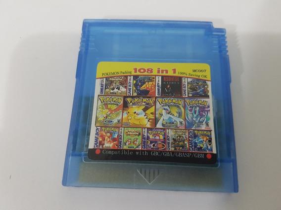 Cartucho Gbc 108 Jogos E Todos Os Pokemon Salvando