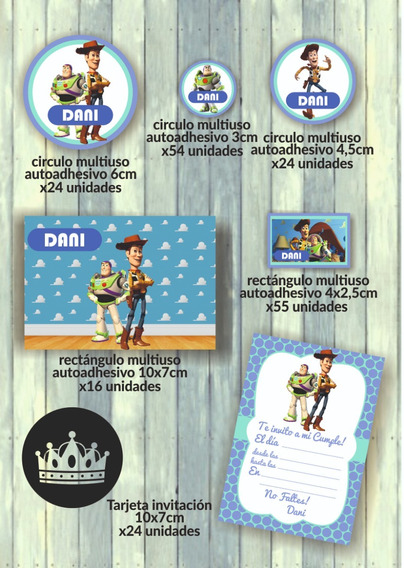 Kit Imprimible Para Candy Bar Toy Story