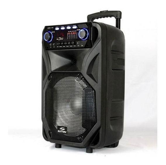 Caixa De Som Sumay 400w Usb Sm-cap12t Bluetooh Thunder Black