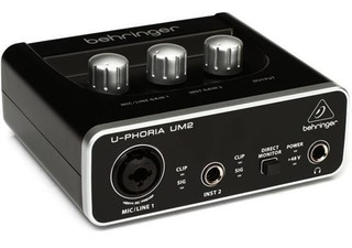 Behringer Um2 Placa De Sonido Audio Interface Usb Oferta
