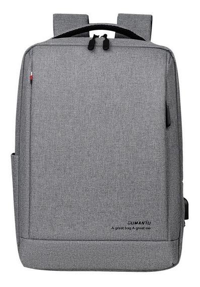 Mochila Impermeable Negocios Laptop 15.6 Hombres Usb