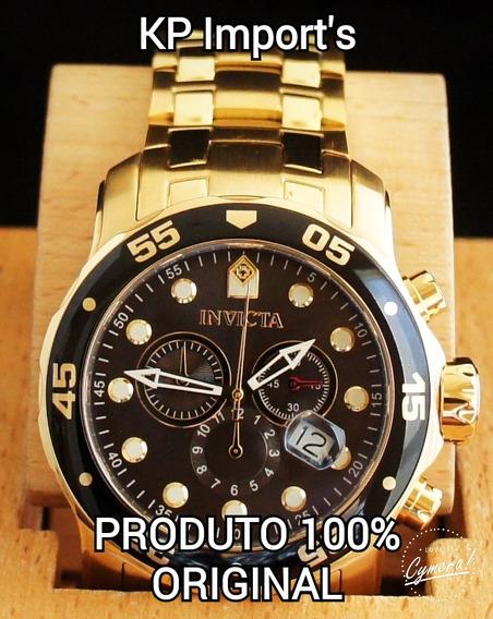 Relógio Invicta Pro Diver Cronografo 80064 Banhado Ouro 18k
