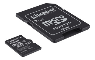 Memoria Micro Sd Clase 10 64 Gb Kingston Steren