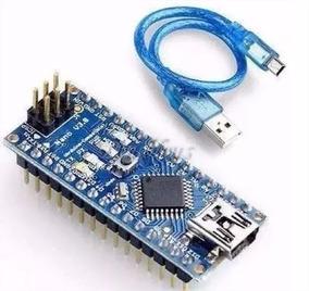 Arduino Nano V3.0 Atmega 328 Cabo Usb Robótica - P. Entrega