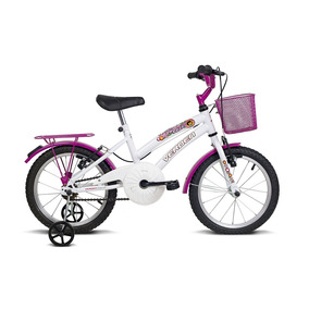 Bicicleta Infantil Aro 16 Breeze Branco E Pink Verden Bikes