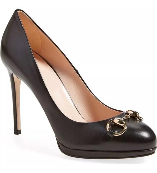 Zapatos Gucci Negros Piel 37 Nuevos