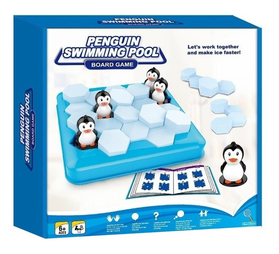 Juego De Mesa Penguin Swimming Pool Juego De Ingenio Full