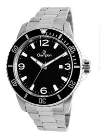 Relógio Masculino Prateado Champion Aprova D