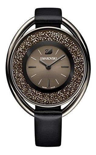 Swarovski Crystalline Oval Reloj De Tono Negro