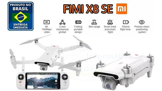 Drone Xiaomi Fimi X8 Se 5km Fpv Gimbal 3 Eixos 4k Gps 33min Novo Lacrado Pronta Entrega Brasil