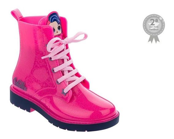 Galocha Kids Lol Pop Star Bota Infantil Rosa Fluor Glitter