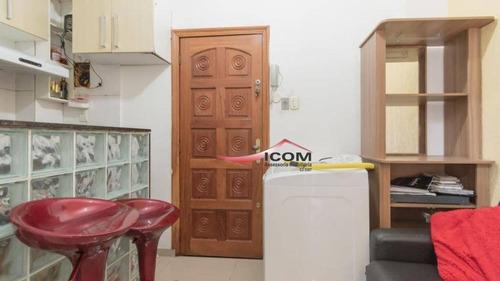 Kitnet Com 1 Dormitório À Venda, 22 M² Por R$ 280.000,00 - Catete - Rio De Janeiro/rj - Kn0241