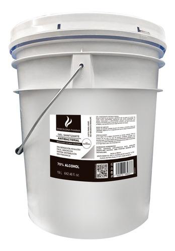 Imagen 1 de 1 de Gel Sanitizante Desinfectante Cubeta 19 L Alcohol De Maíz