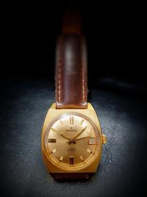 Relógio Suíço Sametic Corda Plaquê Caixa 30 Mm Impecável