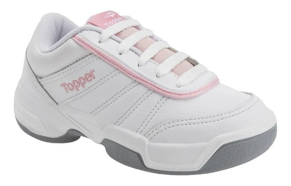 Zapatillas Topper Tie Break Niñas - Blanco Rosa