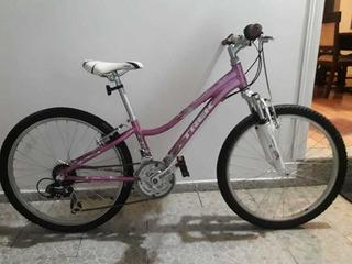 Bicileta Trek Mt220 Para Niñas Color Lila Metalico