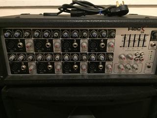 Consola Potenciada Reckq8 250wts+2 Parlantes15 +2mics+2pies