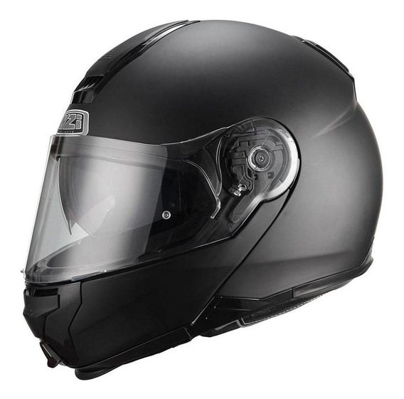 Casco Moto Rebatible Nzi Combi Doble Visor Negro Mate Nzi