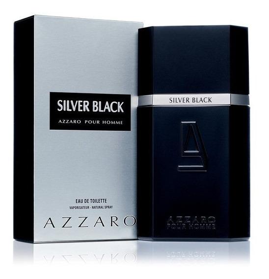 Perfume Azzaro Silver Black 100ml - Original E Lacrado
