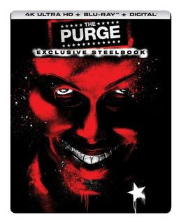 Coleção 4k The Purge - Os Três Filmes Em Steelbook