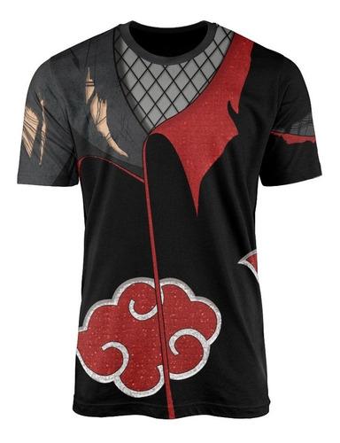 Camisas Camisetas Animes Uniforme 3d Akatsuki Itachi Naruto