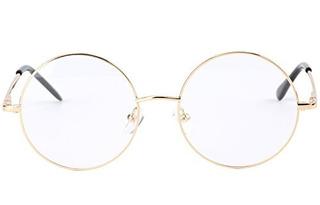 Agstum Retro Round Prescription Metal Eyeglasses Frame Large