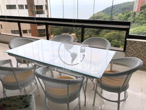 Apartamento Com 3 Dormitórios À Venda, 175 M² Por R$ 1.050.000,00 - Morro Sorocotuba - Guarujá/sp - Ap8966