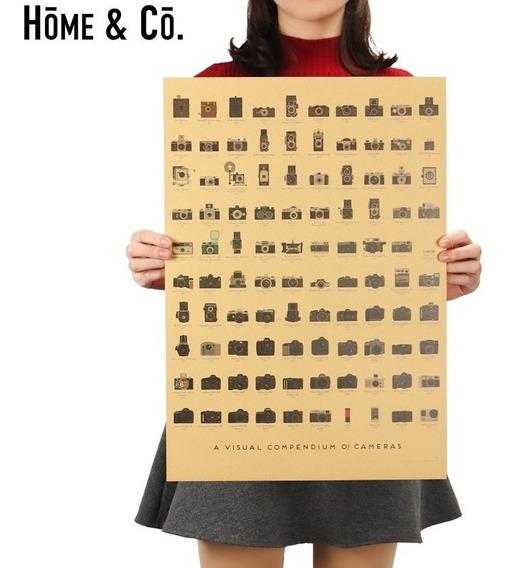 Quadro Poster Camera Fotografica - 51x36cm Kraft Decoração
