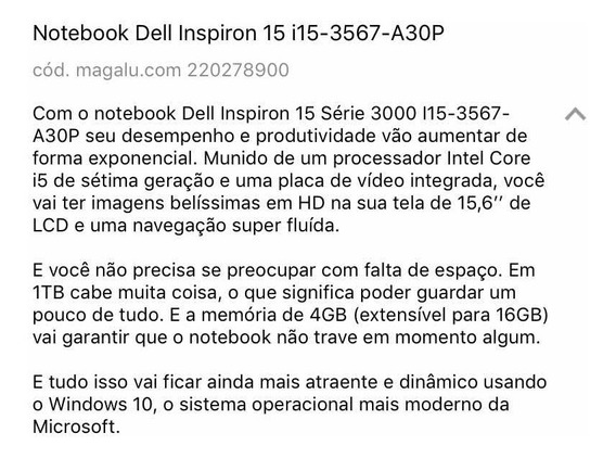 Notbook Dell Inspirion