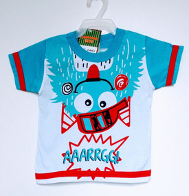 Camiseta Manga Curta Bebê Masculino Pimentinha Tamanho M